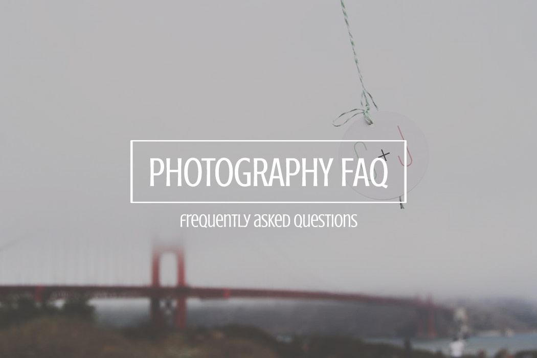 FAQ WEDDING PHOTOGRAPHY FAQ