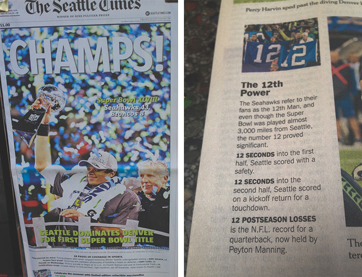 SEATTLE TIMES, 12TH MAN, SEAHAWKS