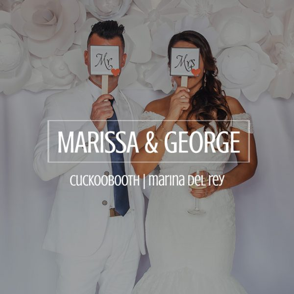 Marissa and George Wedding Photo Booth Marina Del Rey Yacht Club