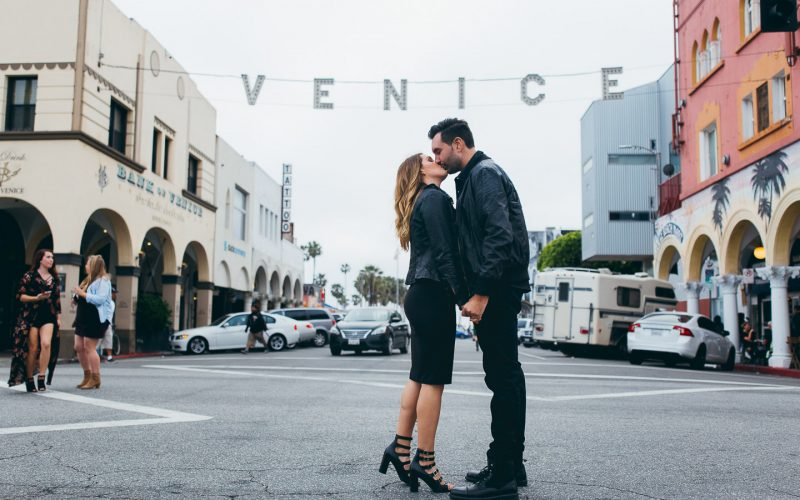 Kelly & David Engaged | Venice Beach, Ca